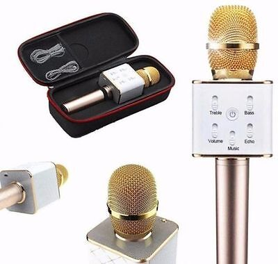 Pro Q7 Wireless Karaoke Microphone KTV Bluetooth Player Mic Speaker For Phone Uk
