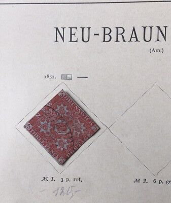 New brunswick stamp, red (1851)