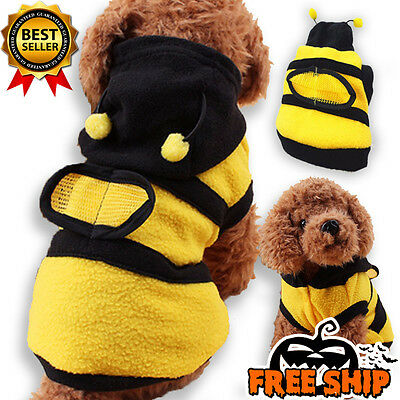 NEW Bumble Bee Wings Cloth Costume For Dog Cat Pet Puppy Apparel Halloween S M L
