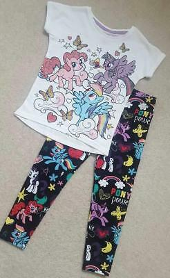 New Girls My Little Pony T Shirt Top Leggings Outfit Set Age 6 Months - 4 Years