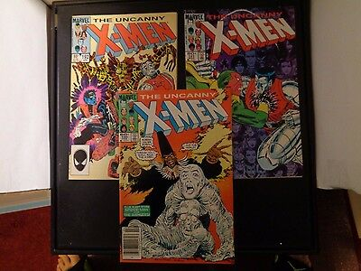 Uncanny X-MEN #190-192 1985 Marvel Comic Book Lot Of 3 VF/NM (8.5) Condition