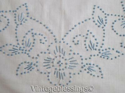 Vintage Cottage Blue White Candlewick Coverlet Bedspread Cottage Perfect