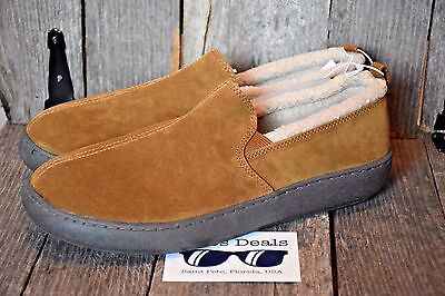 Men's Mossimo Walnut Carson Suede Fleece-Lined Indoor-Outdoor Shoes 12 NEW NWT