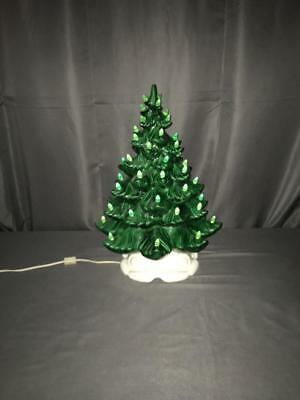 "Vntg Atlantic Mold Green 19"" tall Christmas tree Mint"