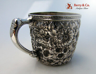 Repousse Baby Cup Wood And Hughes Sterling Silver 1880