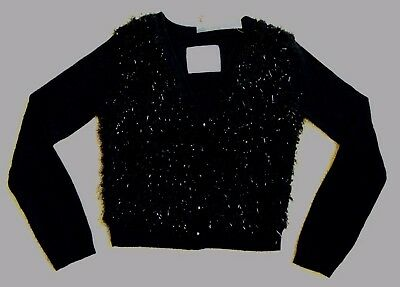 Justice For Girls Black Holiday Long Sleeve Soft Sweater NWT Size 6