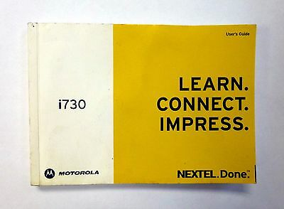 NEXTEL i730 Motorla Cell Phone Users Guide Used