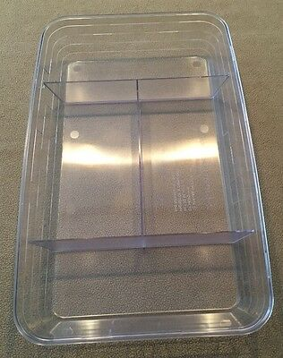 "Longaberger ""Hard Plastic Protector"" for Cheese & Cracker Basket Excellent!"