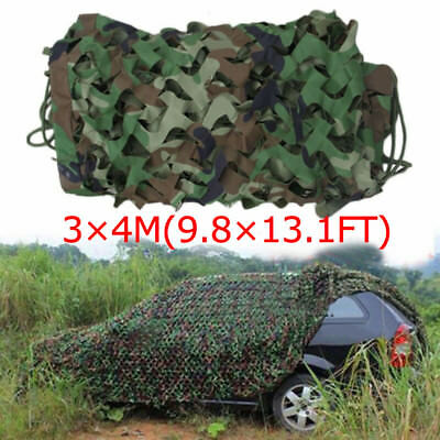 13x10ft Woodland Camouflage Netting Military Camo Net Hunting w/ String Backing