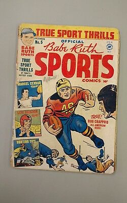BABE RUTH SPORTS COMICS #5 December 1949