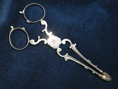 Vintage Antique Solid Silver Tongs 32 g