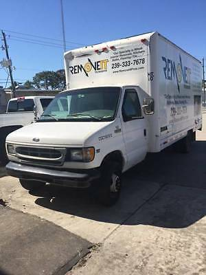 1999 White Ford E-350 Diesel 16' Box Truck No AC Automatic Needs Motor