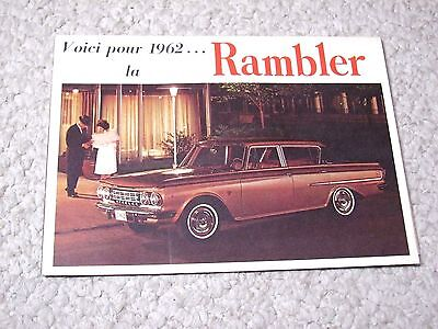 1962 Canadian Rambler Sales Brochure !!!