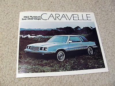 1983 Canadian Plymouth Caravelle Coupe Sales Brochure