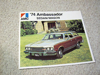 1974 Canadian Amc Ambassador Sales Brochure..
