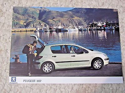 2000 Peugeot 307 Original Press Photo..