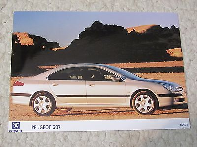 2001 Peugeot 607 Original Press Photo..