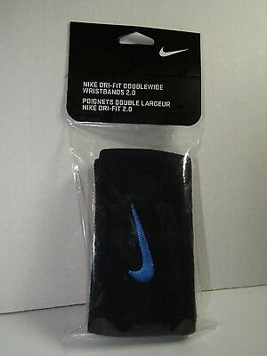 Nike Tennis Nikecourt Premier Dri-Fit Double-Wide 2.0 Wristbands Black/Blue