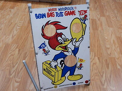 "Vintage Woody Woodpecker Bean Bag Game 1969 15""x24"""