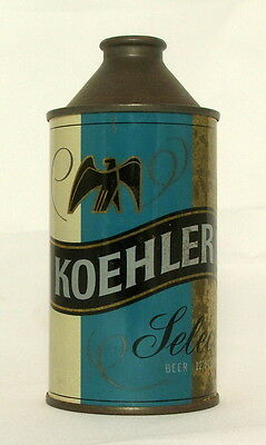 Koehler Select 12 oz. Cone Top Beer Can-Erie, PA.