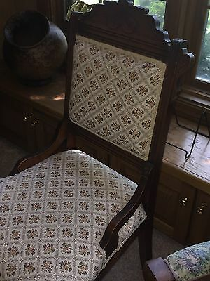 Eastlake Rocker, footstool & Arm chair