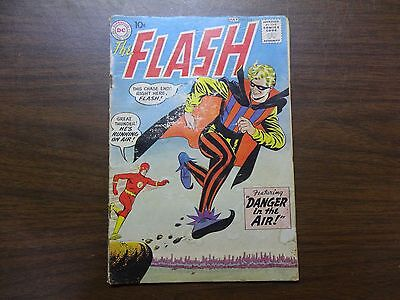 Y2c DC THE FLASH July #113 1960's 1ST Appearance Of Trickster Danger In The Air