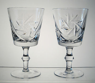 "PINWHEEL SEARS or THE BAY Water Goblets or Large Wines 5 7/8"" PAIR, Multi Avail"