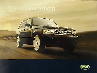 2007 Land Rover Range Rover Dealer Factory Sales Brochure Hse Supercharged