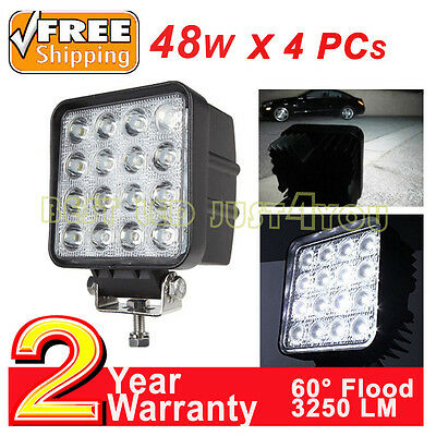 4x48W LED work light flood driving lamp 12V Forklift truck tractor trailer boat