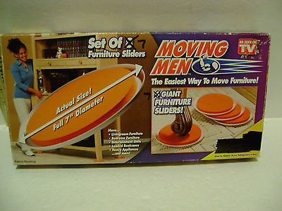 MOVING MEN Set Of 7 Furniture Sliders AS SEEN ON TV For Moving Furniture