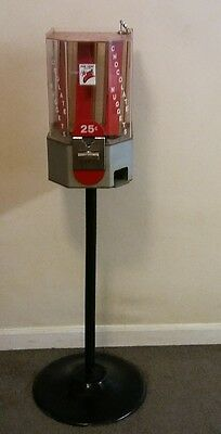 Vintage Chocolate Nuggets Coin Operated 25¢ Vending Machine • Working with key