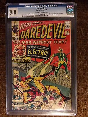 Daredevil 2 CGC 9.0 VF/NM 2nd Daredevil and Electro appearances Marvel 1964 OW/W