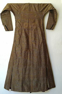 Antique Turkish  Woven Silk Cotton Coat Robe Entari