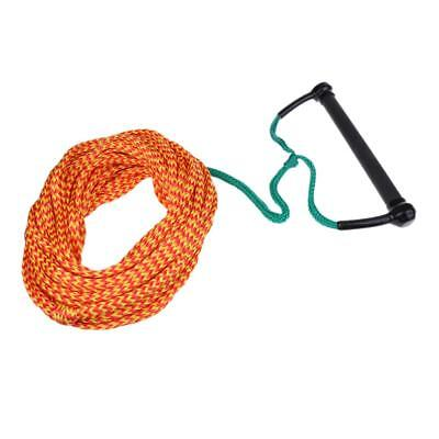 75ft Water Ski Wakeboard Tow Rope Water Sports Slalom Trainer & Rope Keeper
