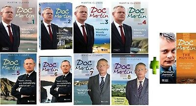 Doc Martin: The Complete Series Seasons 1-7 + The Movies DVD Box Set , Brand New