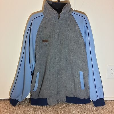 Jeanuin Bleu Wool / Cotton Varsity Jacket Men's Size XL GRAY / BLUE