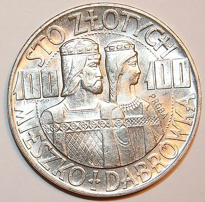 1966 100 ZLOTYCH Poland SILVER Coin | Take a Look Mintage 196,859