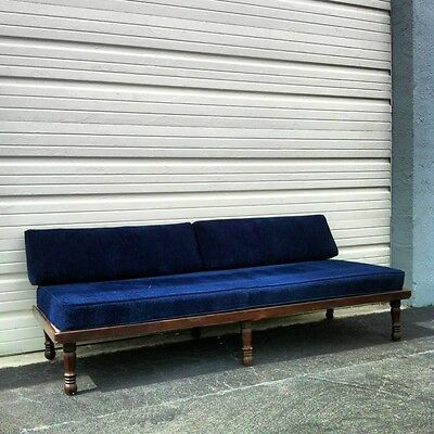 Mid Century 1960's  wood daybed sofa