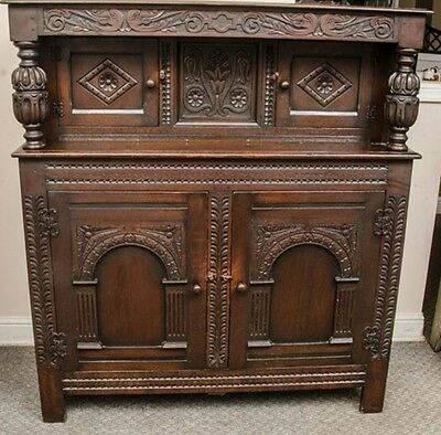 Beautiful Carved Solid Mahogany Sideboard