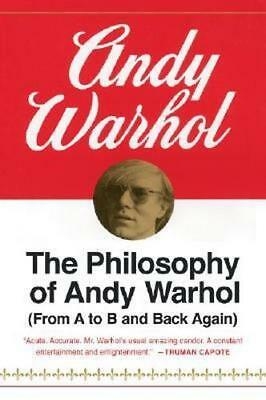 NEW The Philosophy of Andy Warhol By Andy Warhol Paperback Free Shipping