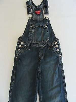 Faded Glory Girls 10 Distressed Denim Overalls Frayed Blue Jean Romper Pants