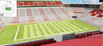 2 OU Oklahoma Sooners Season Football Tickets - Great View West Upper Deck