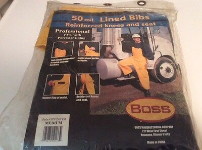 Lined Bib Polyester PVC by BOSS 50 mil Professional MEDIUM