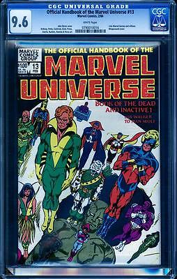 Official Handbook of the Marvel Universe 13 CGC 9.6, Book of the Dead Inactive