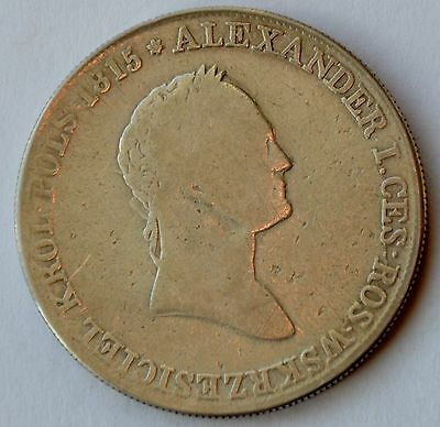 Poland 5 Zlotych, 1831, under Imperial Russia, king Alexander I