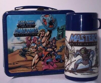 1984 He-Man and the Masters of the Universe Metal Lunchbox Aladdin Mattel Toy