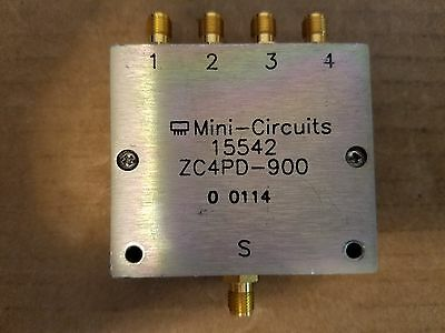 MINI-CIRCUITS ZC4PD-900 POWER Splitter Combiner 800-900MHz RF Microwave  #0114