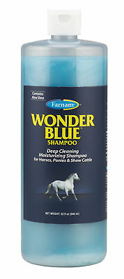 Wonder Blue Shampoo with Aloe Vear Deep Cleaning Equine Horse 32 oz