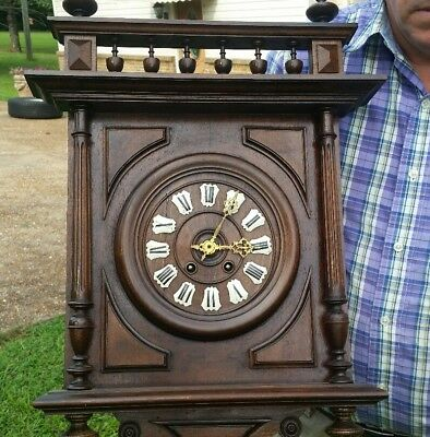 Carved German Or France Wall Clock