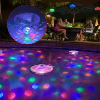 Floating Underwater RGB LED Disco Light Glow Show Swimming Pool Tub Spa Lamp BS